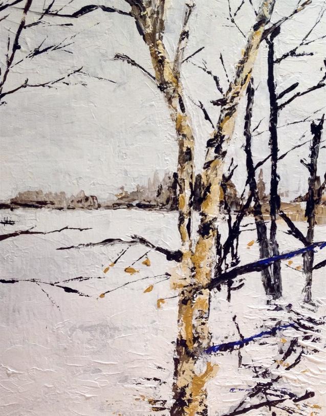 River Birch, acrylic on canvas, 11